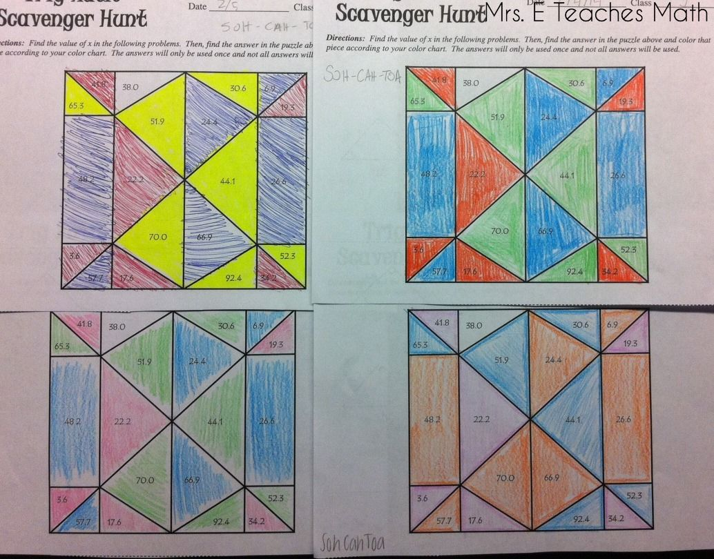 Trig Scavenger Hunt | Activities, Students and Math