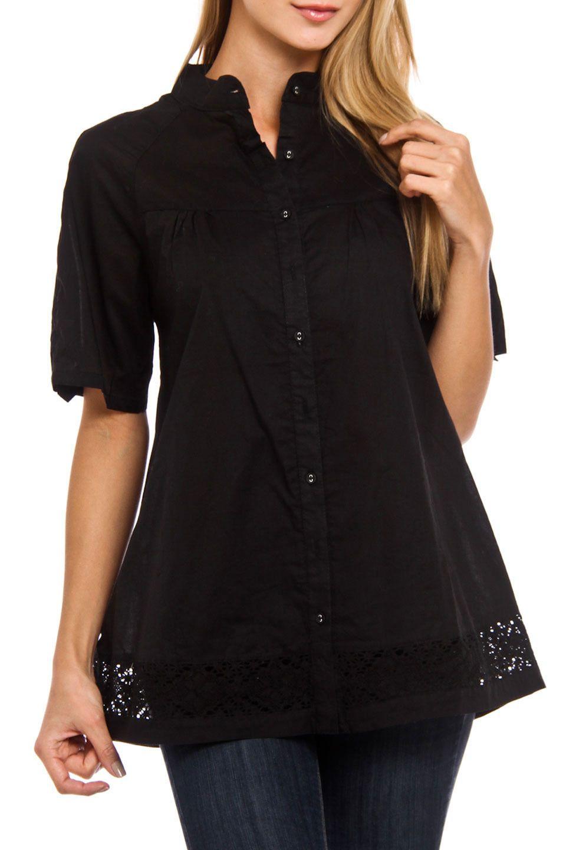 77beaba92e551 Style New York - Allison Button Down Top in Black