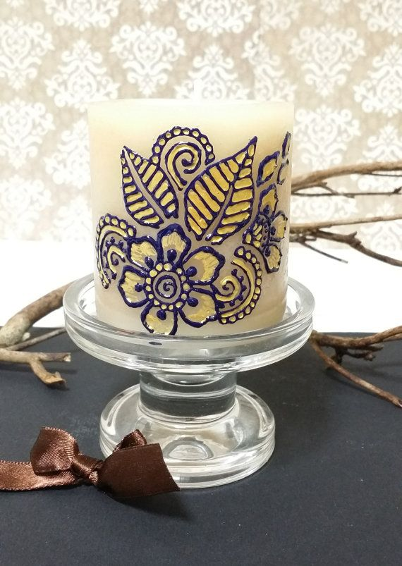 Hey, I found this really awesome Etsy listing at https://www.etsy.com/listing/218955840/painted-candle-henna-candle-candle-decor