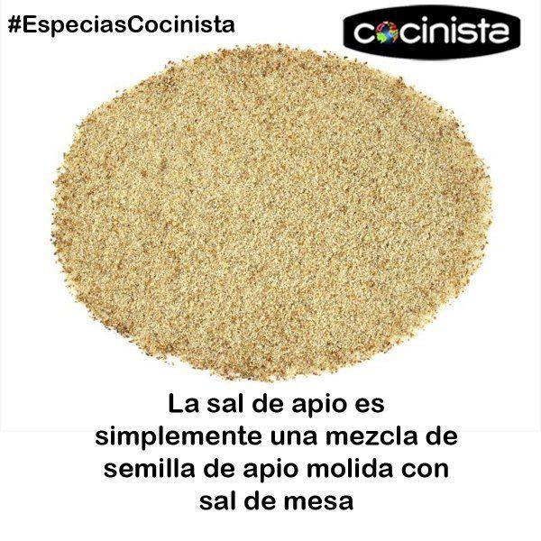 La sal de apio es simplemente una mezcla de semilla de apio molida con sal de mesa. #especias #cocina #gastronomía www.cocinista.es
