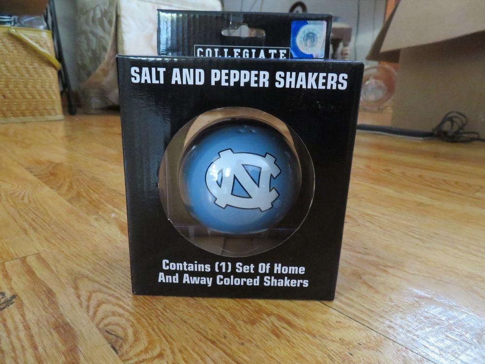 University of North Carolina TarHeels Salt and Pepper Shakers Ceramic Set #BoelterBrands #NorthCarolinaTarHeels