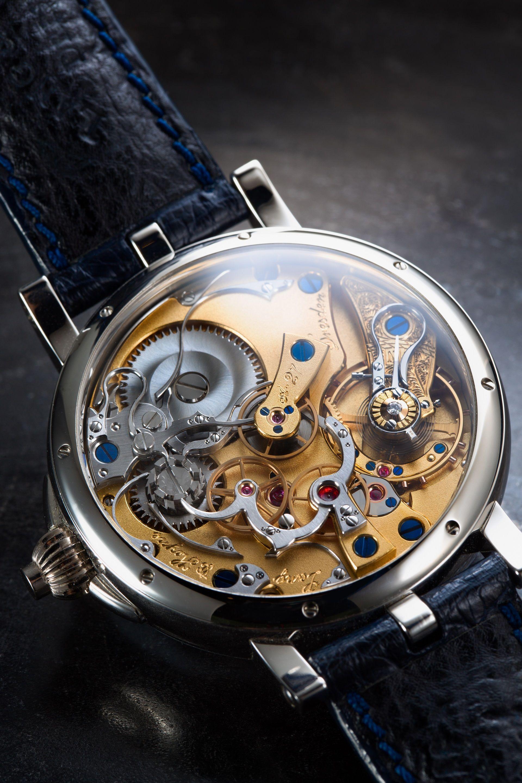 Goegeous case back of Albert Von Sachsen the chronograph movement