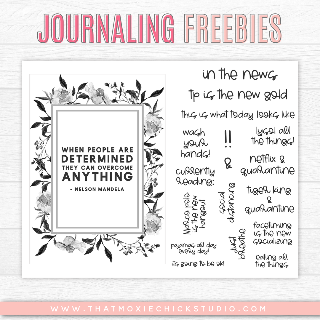 Journaling Freebies // MARCH 2020 in 2020 Journal, Silly