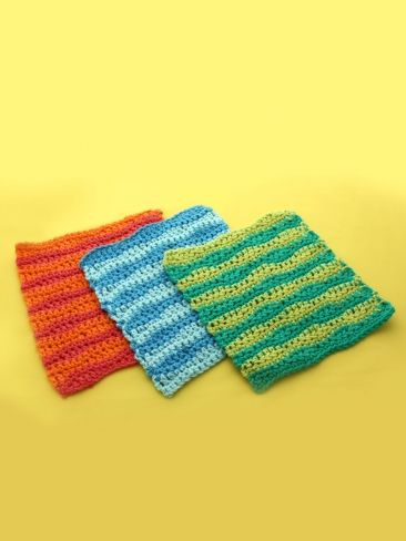 Wavy Stripes Dishcloth Yarn Crochet Patterns Yarnspirations