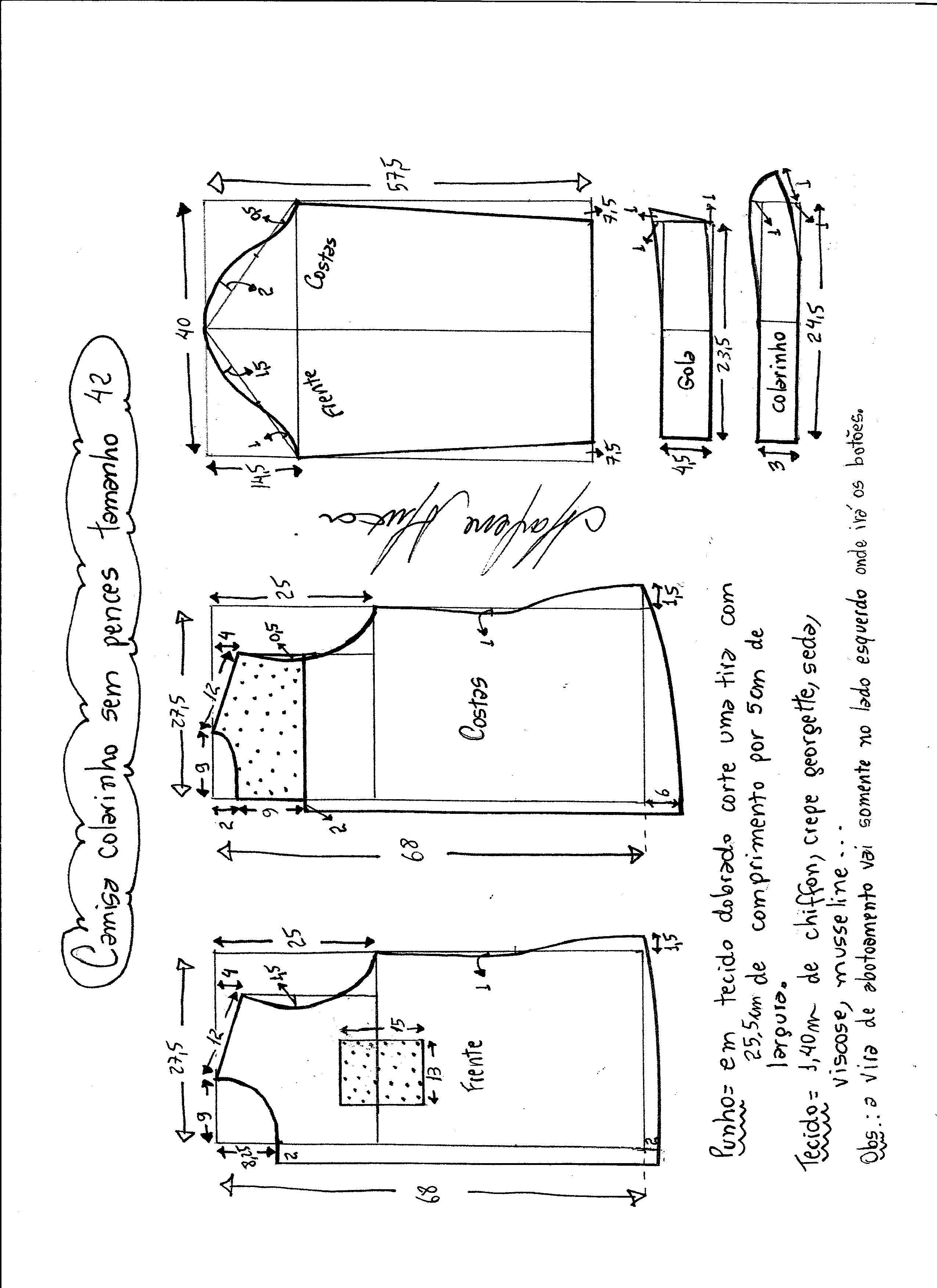 Patrón de camisa para mujer | costura | Pinterest | Camisas para ...