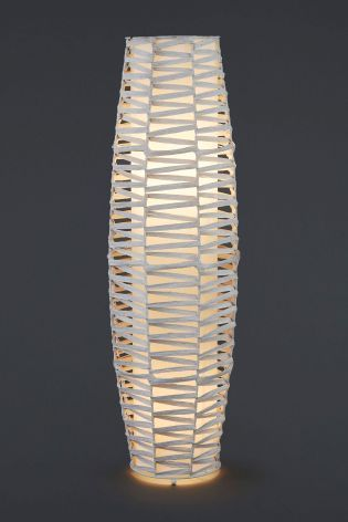 Buy white woven 2 light floor lamp from the next uk online shop buy white woven 2 light floor lamp from the next uk online shop mozeypictures Image collections