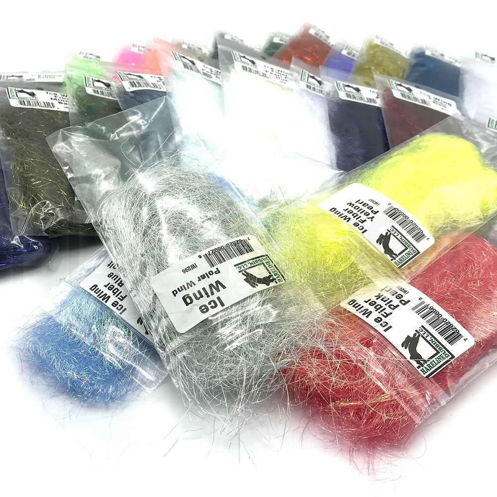 Fly Tying Dubbing Shimmer Sparkle Material Hareline ICE DUB 27 Colors NEW!