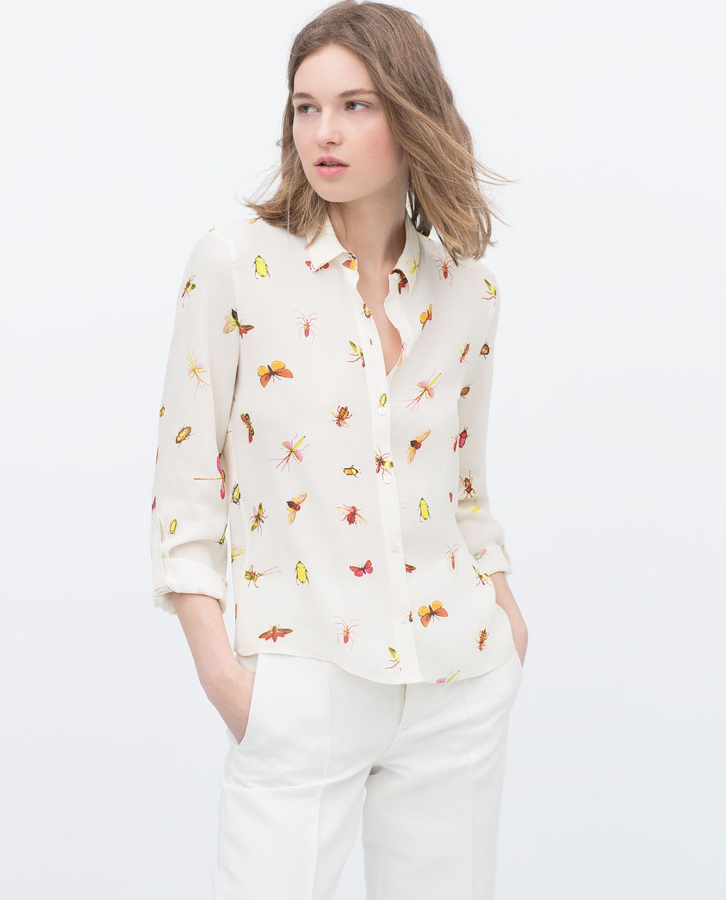 57981db822f1e I WANT IT SOOOO BAD!! Image 1 of PRINTED SHIRT from Zara