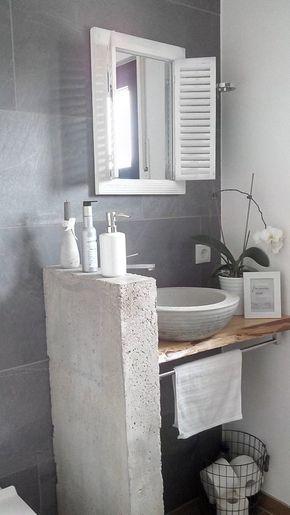 Ein Spiegel Fur Das Gastebad Mit Bildern Badezimmer Diy