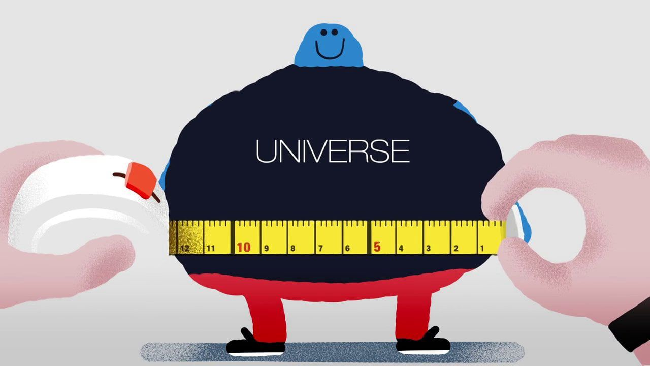 How big is the universe animation