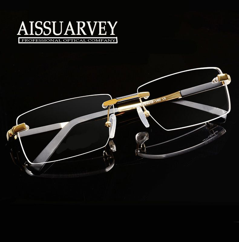 576524f7d6f Metal Eyeglasses Rimless Oculos De Sol Fashion Brand Designer Eyeglasses  Frame Masculino Men Prescription Glasses Online 1083