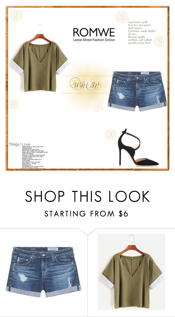 """""""Untitled #734"""" by dina123-1 ❤ liked on Polyvore featuring AG Adriano Goldschmied and Gianvito Rossi"""