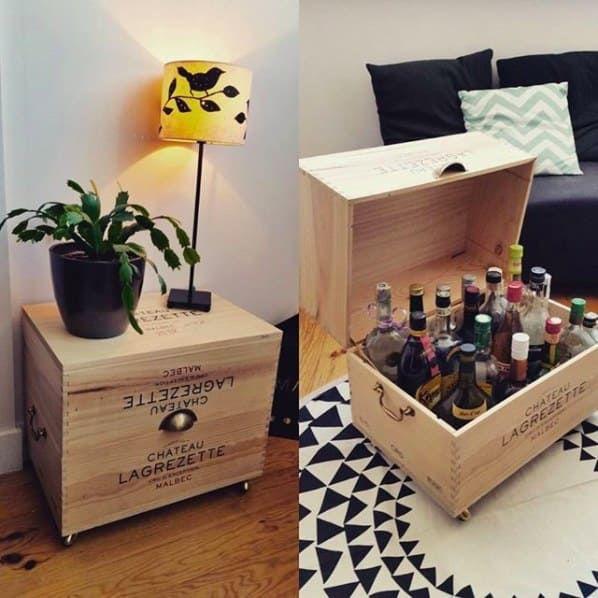 Diy 15 Idees Pour Reutiliser Les Caisses A Vin Dans Son Interieur Caisse A Vin Deco Caisse De Vin Et Boites A Vin En Bois