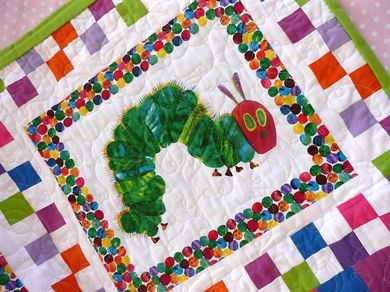 The Very Hungry Caterpillar Quilt Back From The Quilters