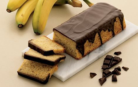 karolines banankage med chokolade