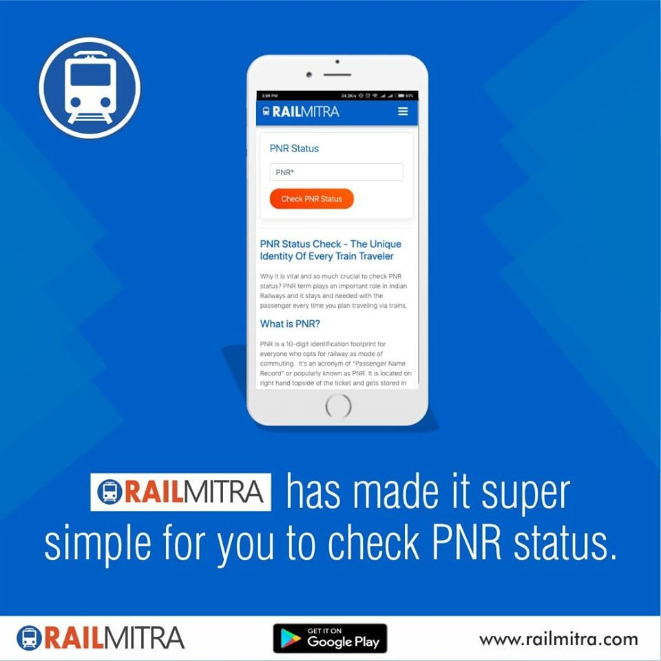 Check Your Train Pnr Status With Railmitra In 2020 Train Journey How To Plan Travel Dating