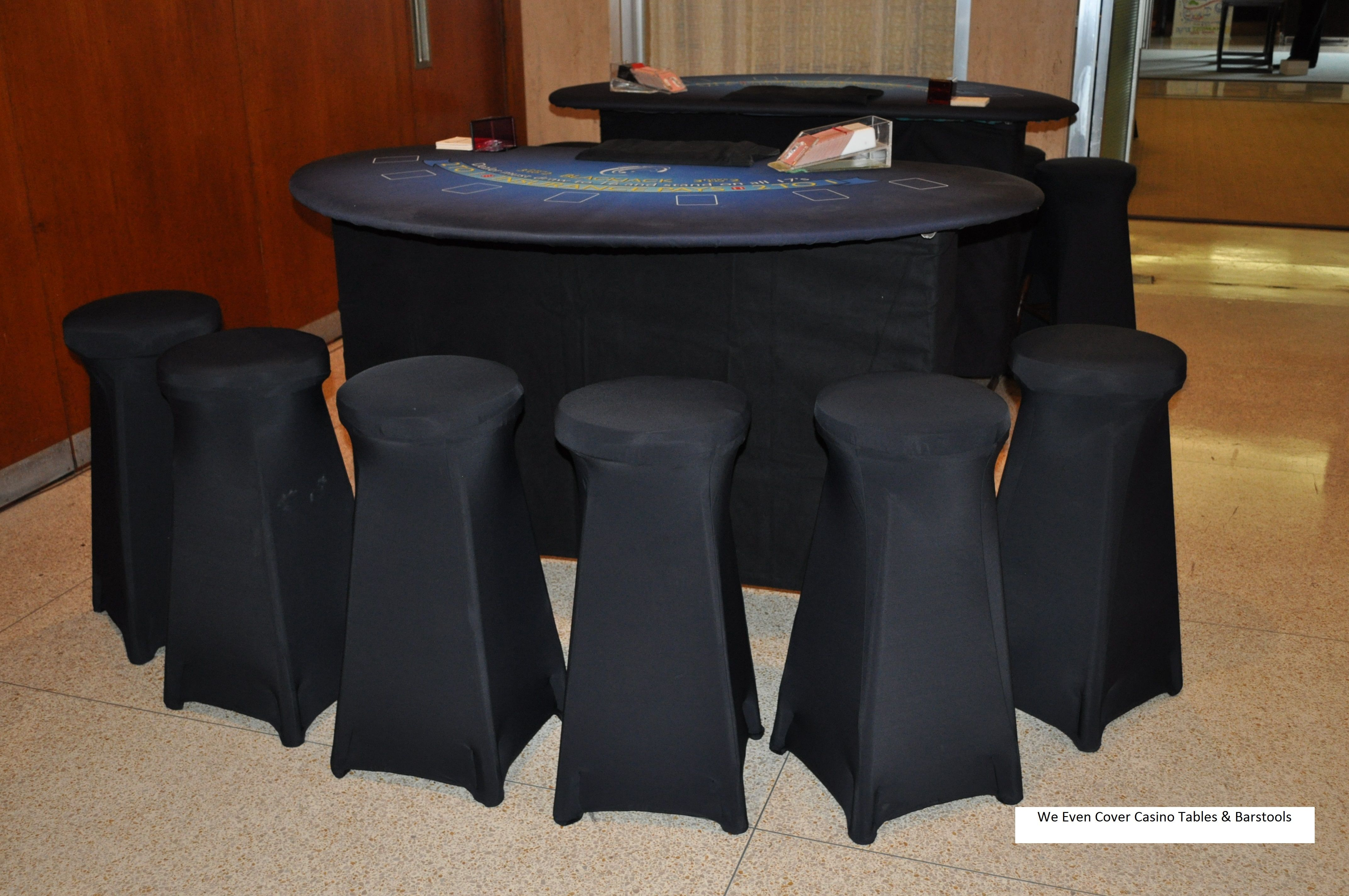 EventScapes/CCP Events - Casino Table & Barstool Covers add quality and a sleek look to any event!