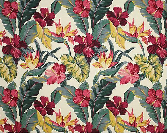 30pauhana Tropical Botanical Vintage Hawaiian Fabric Bird of ...