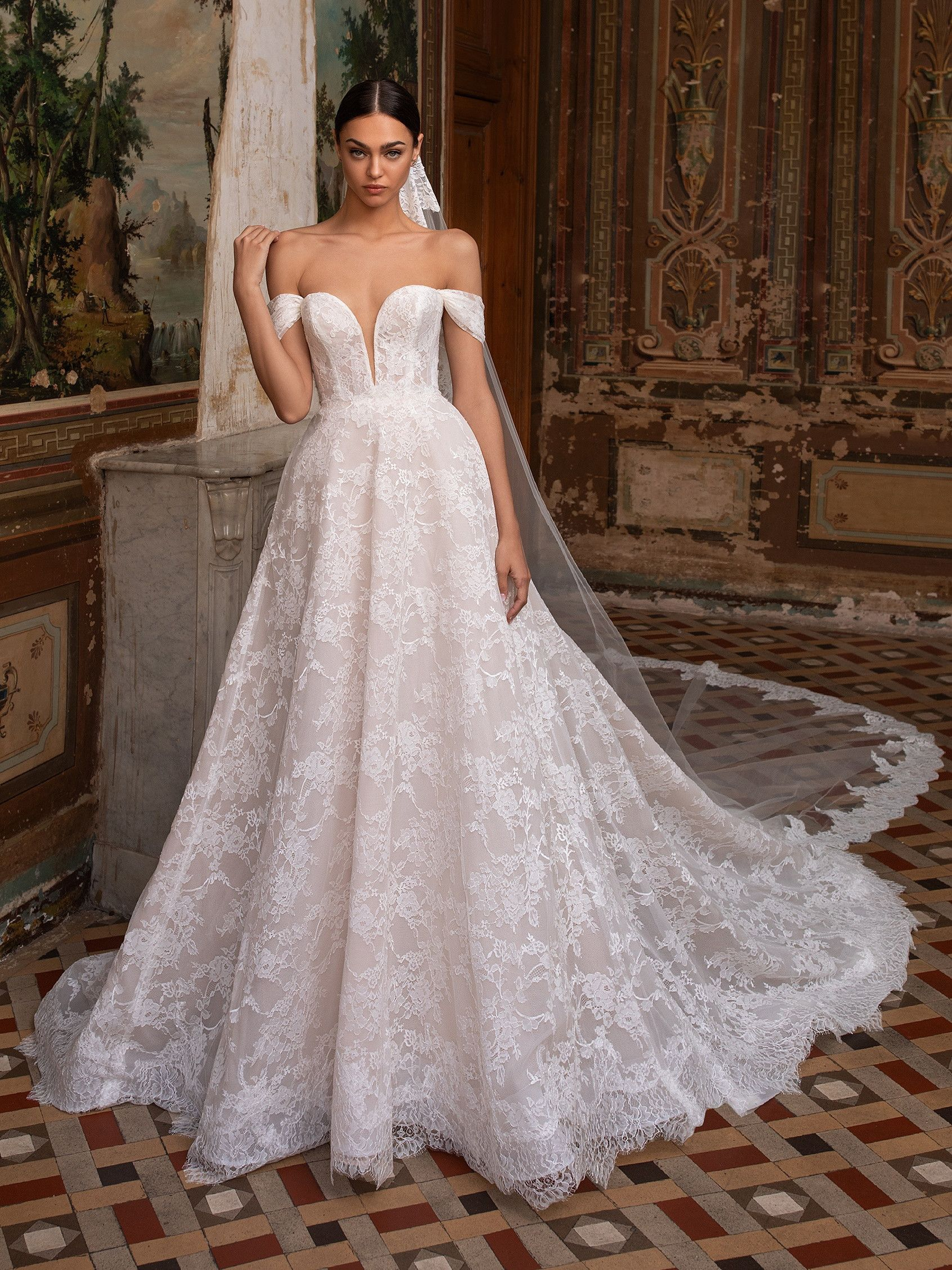 Shine With Your Own Light In Our Princess Wedding Dress With Off The Shoulder Sleeves Dis In 2020 Ball Gowns Wedding Wedding Dresses Kleinfeld Pronovias Wedding Dress