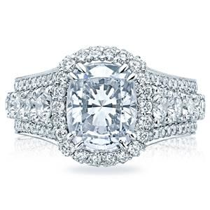 Shop online TACORI HT2613CU10X8 Halo Platinum Diamond Engagement Ring at Arthur's Jewelers. Free Shipping