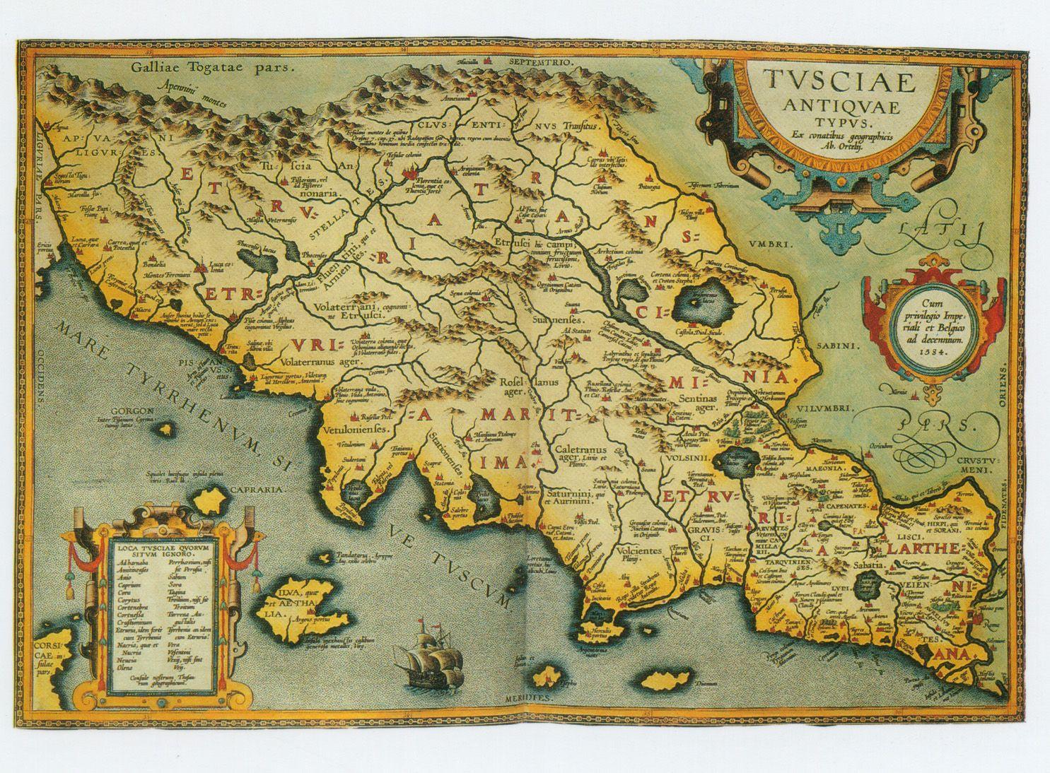 ANCIENT MAP OF ITALYTUSCANY TuscanyAgriturismoGiratola ANCIENT MAP