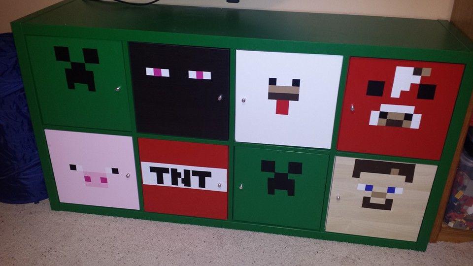 Bücherregale Minecraft a minecraft bookshelf made from ikea kallax kinderzimmer