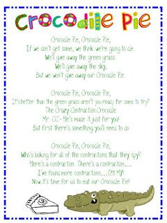 Poem: Crocodile Pie and Contractions   teacher   Pinterest ...