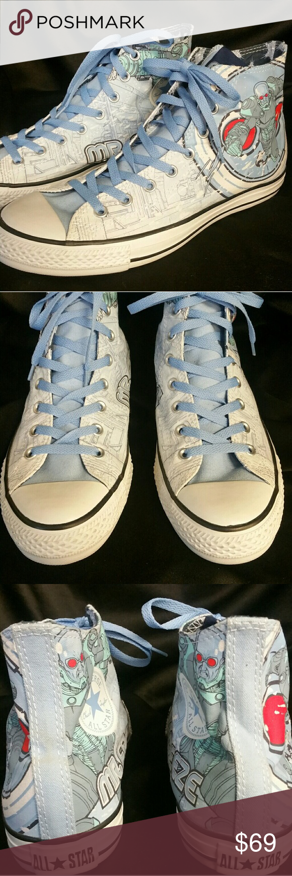 88b7b9cd182 D C Chuck Taylor s Mr. Freeze Converse Rare   new without box...circa  2000 s Converse Shoes Sneakers