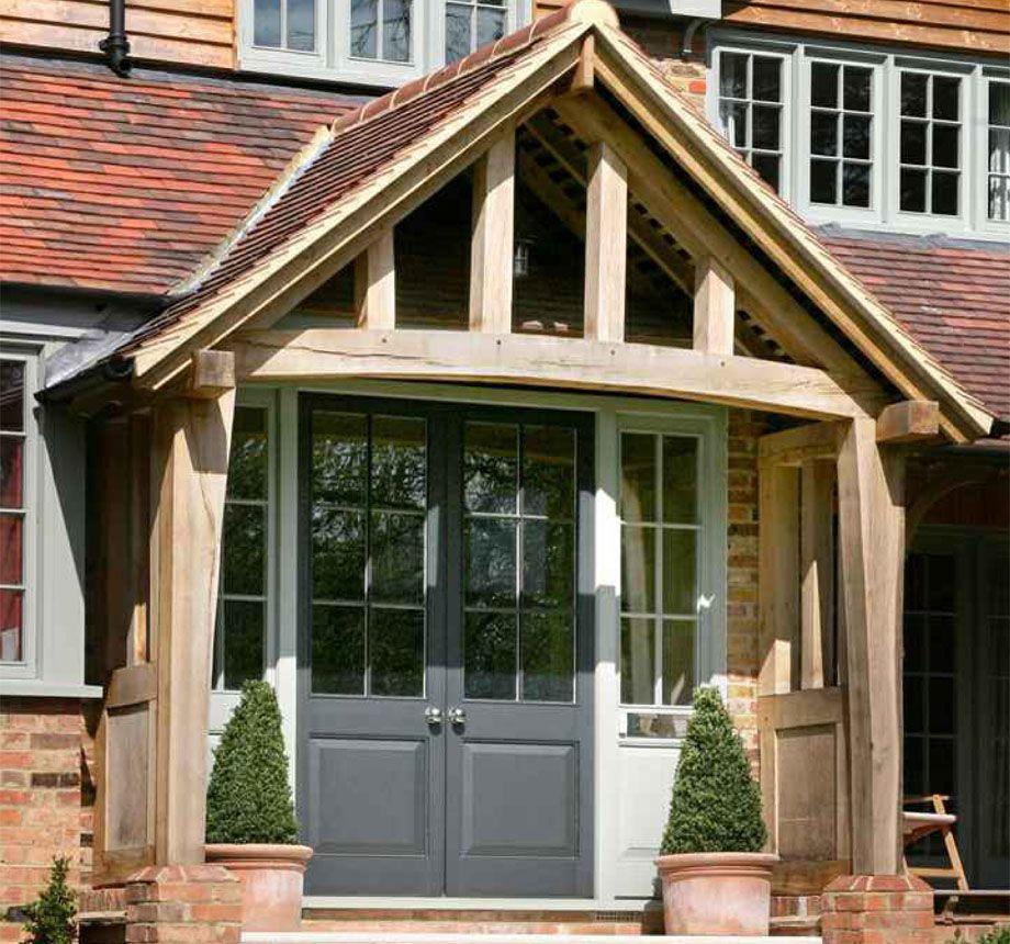 contemporary grey porch oak door uk - Google Search