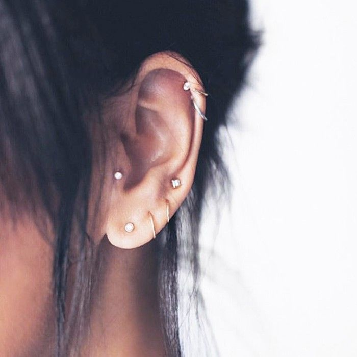 cool girl ear piercings we discovered on pinterest tiny also rh