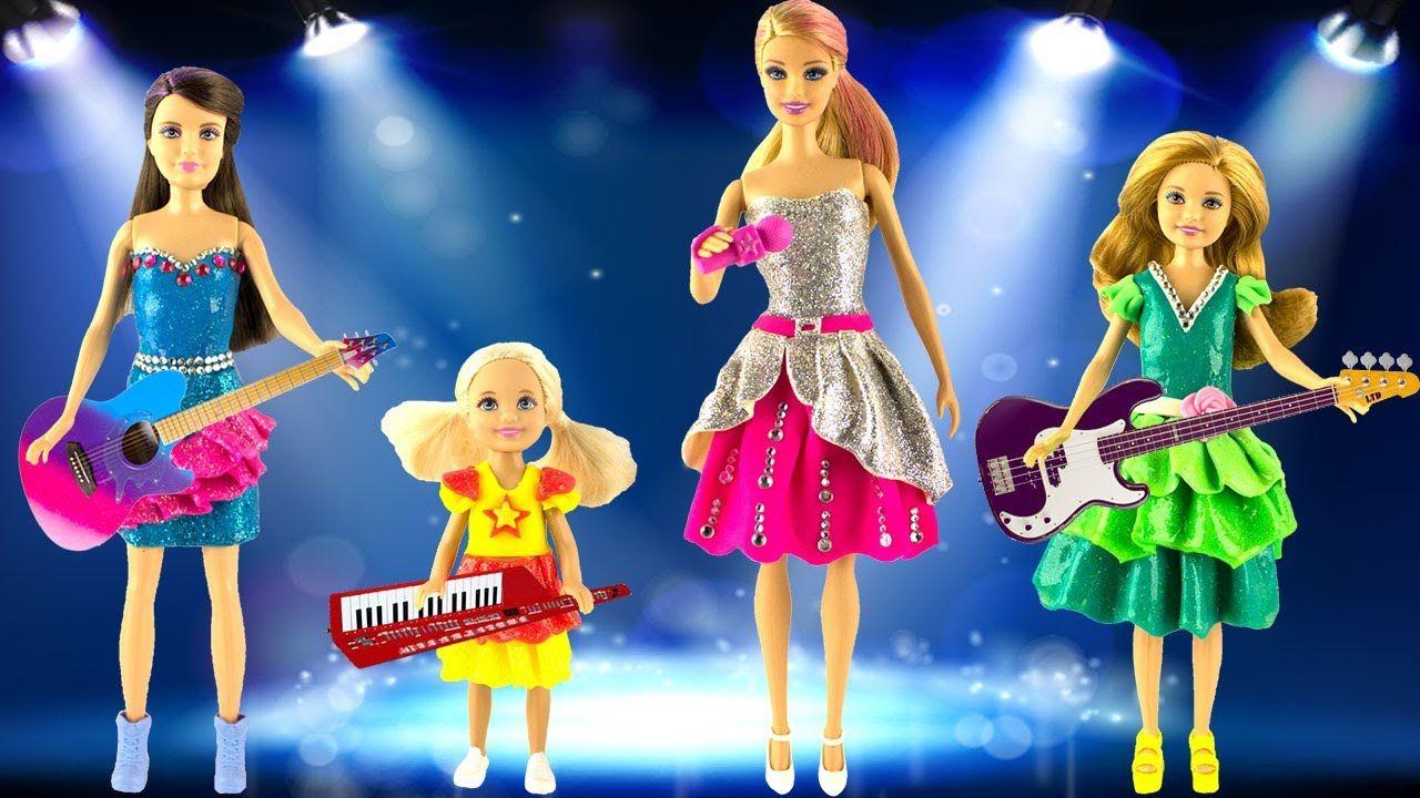 Play Doh Barbie Dress Up Barbie Chelsea Skipper Stacie Play Doh