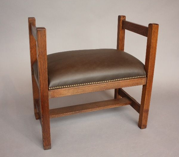 Details About 1910 Arts Crafts Oak Wood Chair W Leather Antique Craftsman Vintage 10208 Craftsman Chairs Craftsman Furniture Wood Crafts