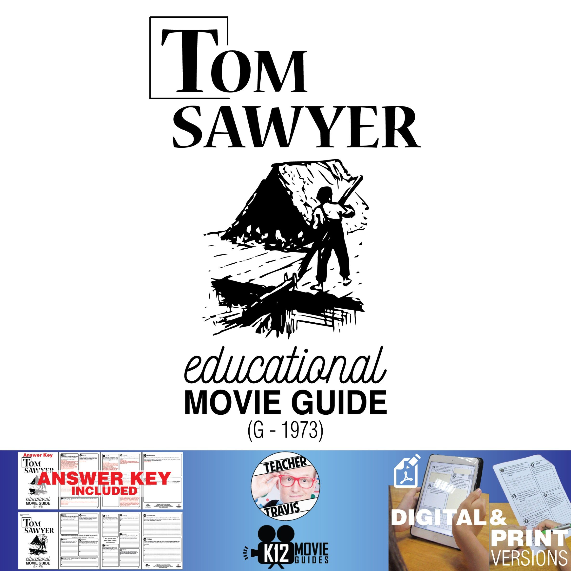 Tom Sawyer Movie Guide Questions Worksheet G
