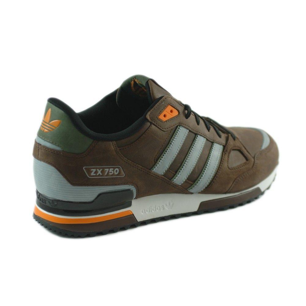 outlet store 2bb77 abfba adidas originals zx 750 uomo marrone