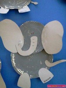 paper plate elephant craft idea & paper plate elephant craft idea | Paper plate animal craft ...