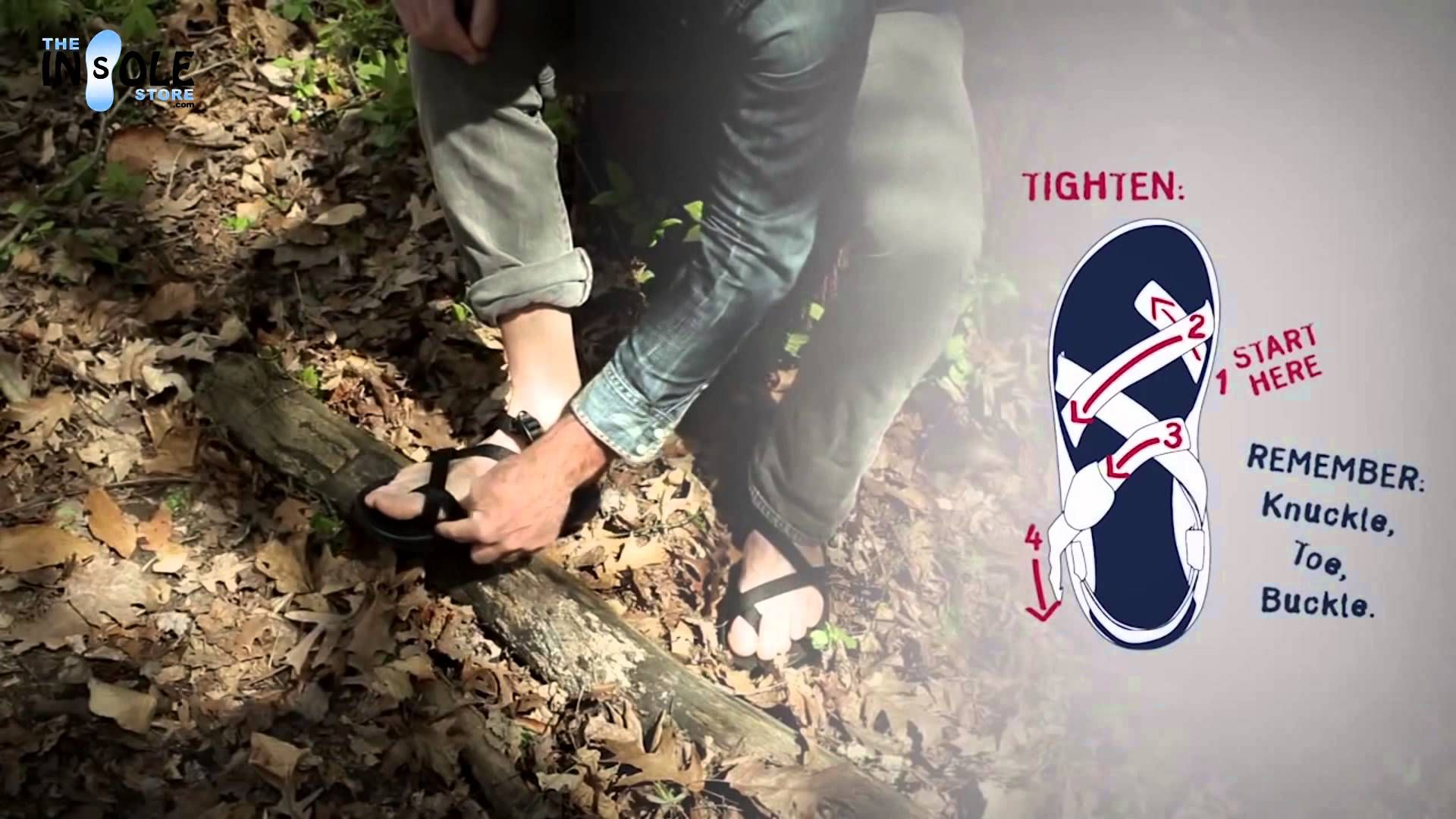 How To Fit Adjust Chaco S With A Toe Loop Sandal Theinsolestore Com Chacos Sandals Chacos Toe Loop Sandals