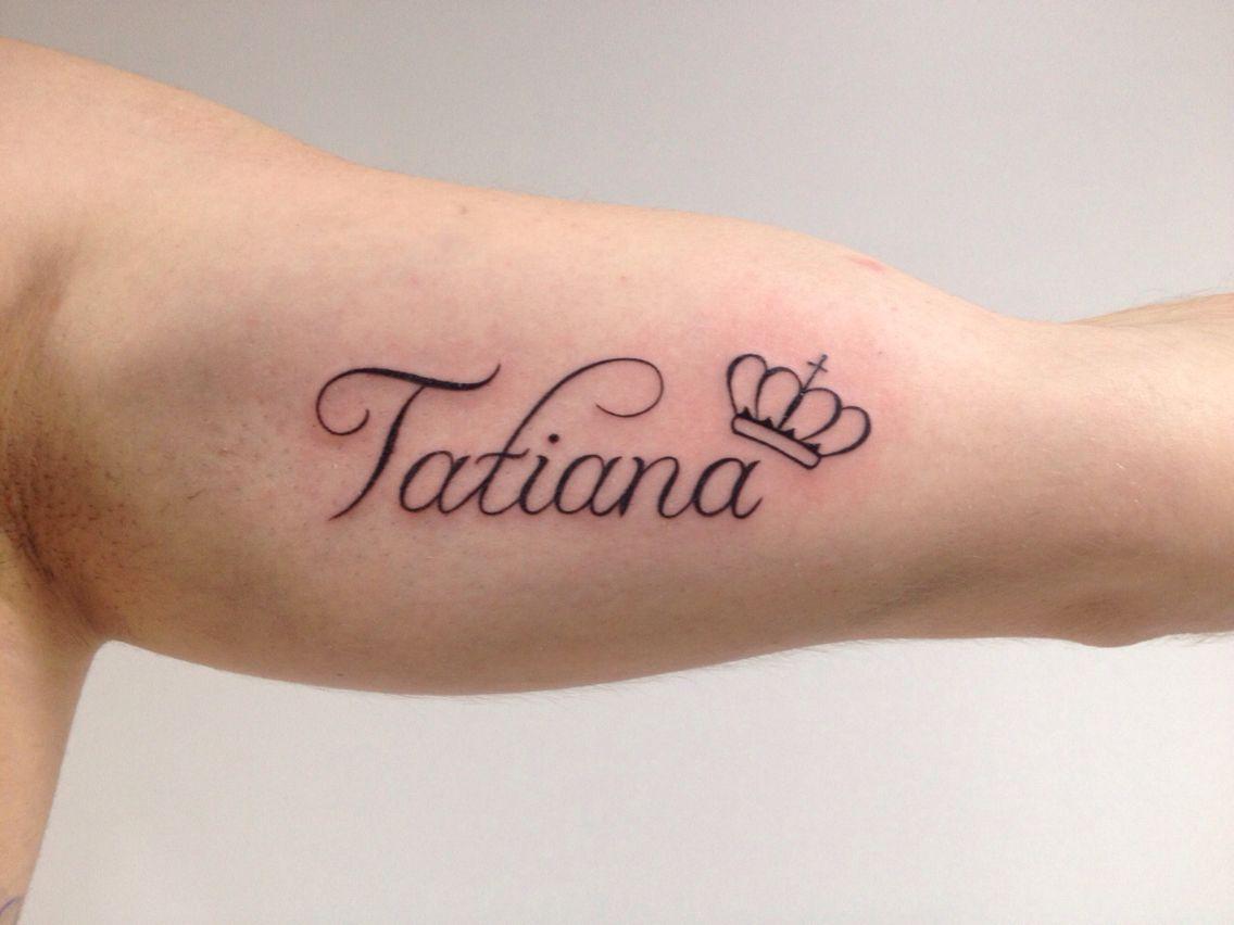 Tattoo Nombre Tatiana Tatuajes De Nombres Tatuajes Inspiradores