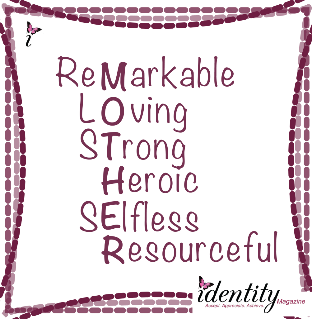 Honor Your Mom In 3 Words Identity Magazine For Women Under Construction Words English Writing Selfless