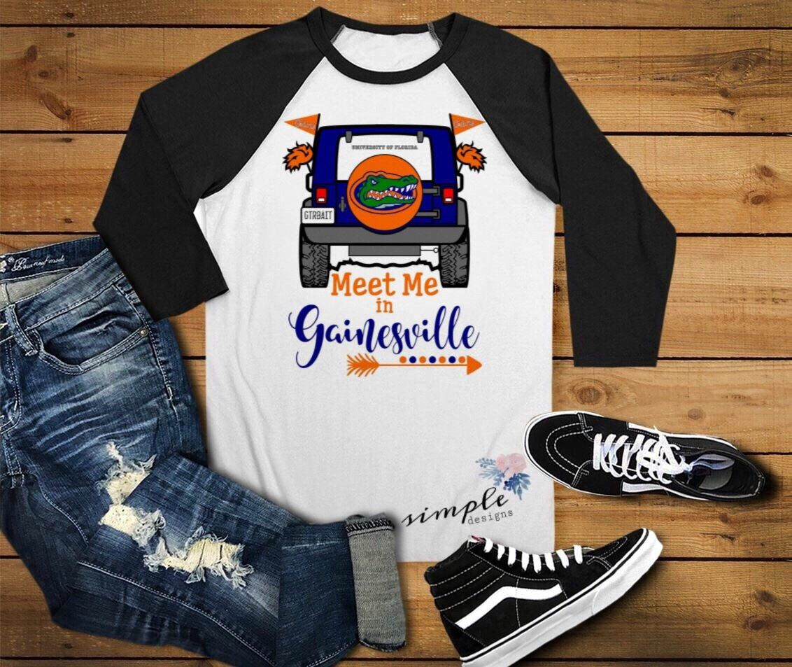 Florida gators football team raglans football shirts