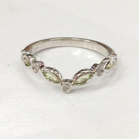 Peridot Rings Diamond Wedding Bands Anniversary Rings White Gold