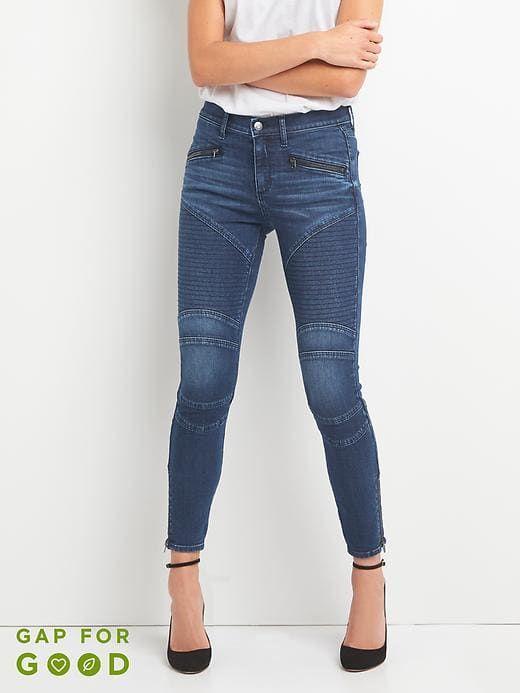 Rise Dark Size Mid Womens Skinny Ankle Indigo Moto True Jeans Gap NnOwkX8Z0P