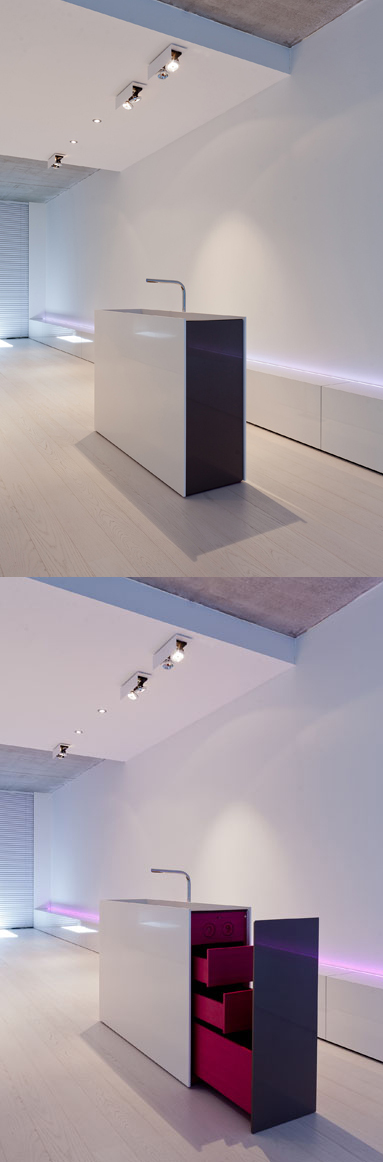 Freestanding basin with bright interior by Filip Deslee ...
