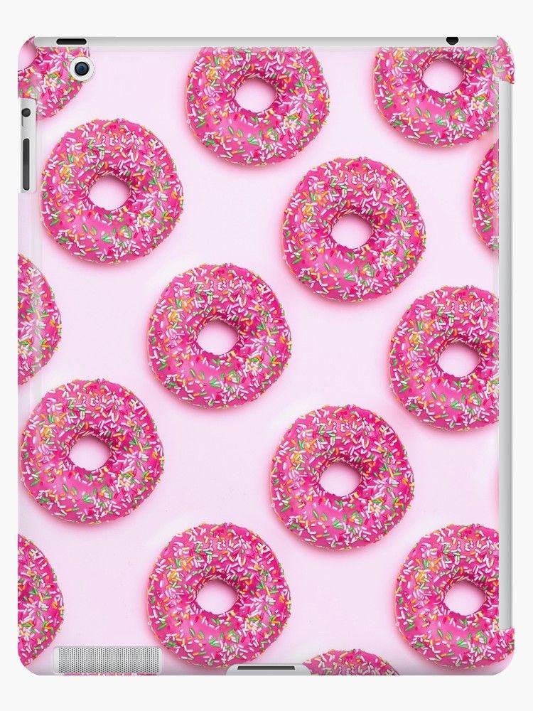 'Pink Delicious Doughnut Dessert Pattern' iPad Case/Skin