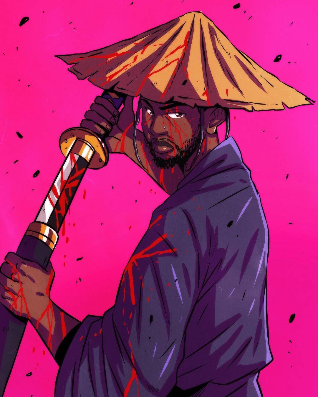 Blood Kendricklamar Black Anime Characters Black Artwork