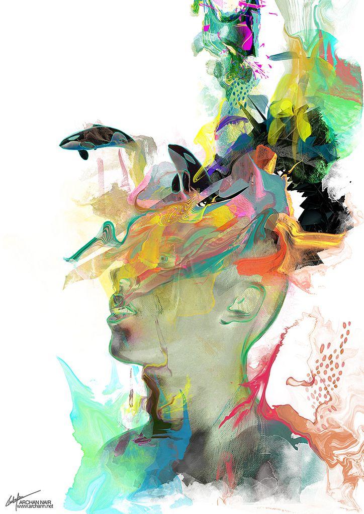 Archan Nair's Fluorescent Digital Illustrations | Hi-Fructose Magazine