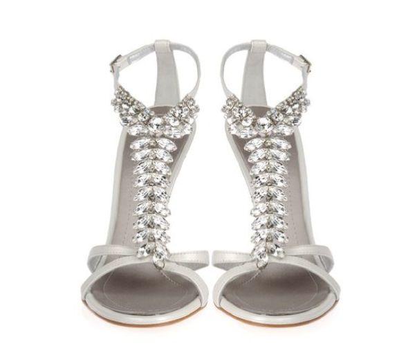 Superb Precious, Ice White Giuseppe Zanotti Wedding Shoes