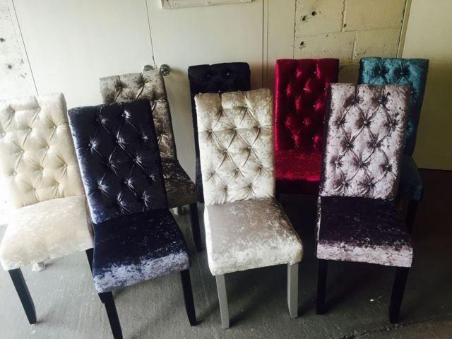 Crushed Velvet Dining Chairs Velvet Dining Chairs Velvet Dining Room Chairs Fabric Dining Chairs