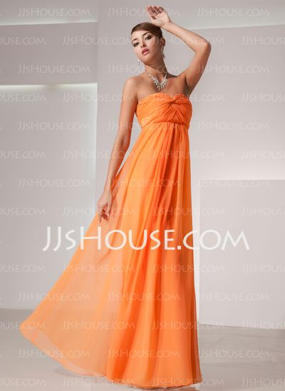 Holiday Dresses - $116.99 - Empire Sweetheart Floor-Length Chiffon Holiday Dress With Ruffle (020025839) http://jjshouse.com/Empire-Sweetheart-Floor-Length-Chiffon-Holiday-Dress-With-Ruffle-020025839-g25839  I DON'T LIKE IT IN THAT COLOR, BUT THE STYLE I LOVE!