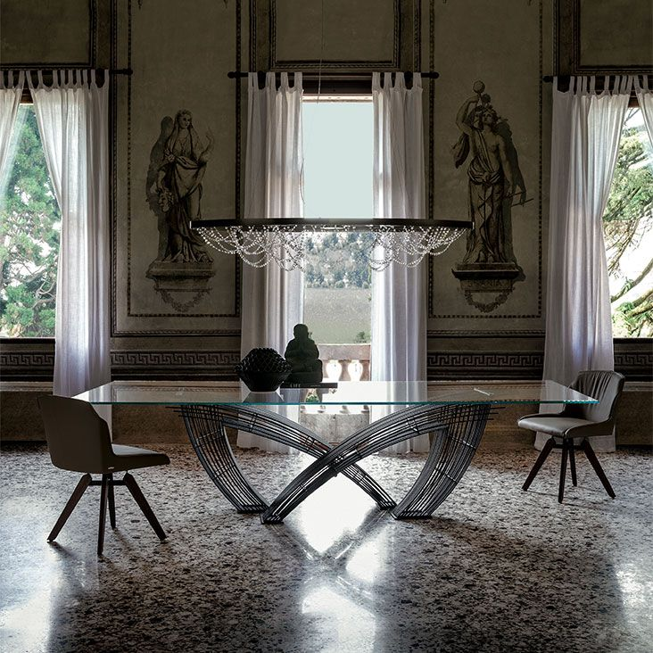 Hystrix Dining Table Cattelan Italia 120 Cm Wide By 240 300 Or 320 Long Designer Giorgio Cattelan Dining Room Furnishings Dining Table Dining Table Lamps