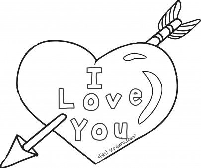 Free Printable Valentinesday Hearts And Arrow Coloring Pages For